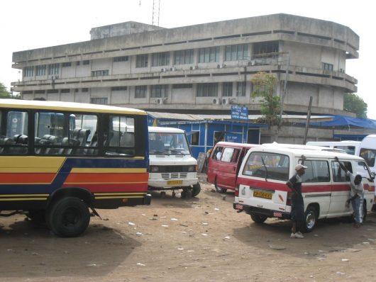 Trotro station in Accra, Ghana