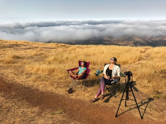 Watching the eclipse from Mt. Diablo