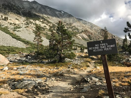 No fires allowed above 10,000'