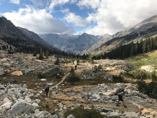 Epic scenery along Rae Lakes Loop in Kings Canyon National Park