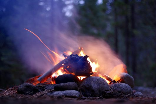 A picture-perfect campfire