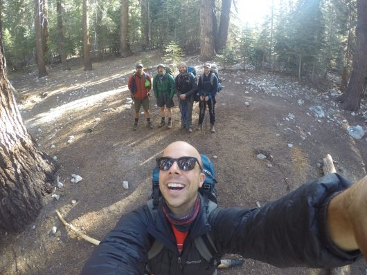 GoPro selfie before leaving camp on our final day