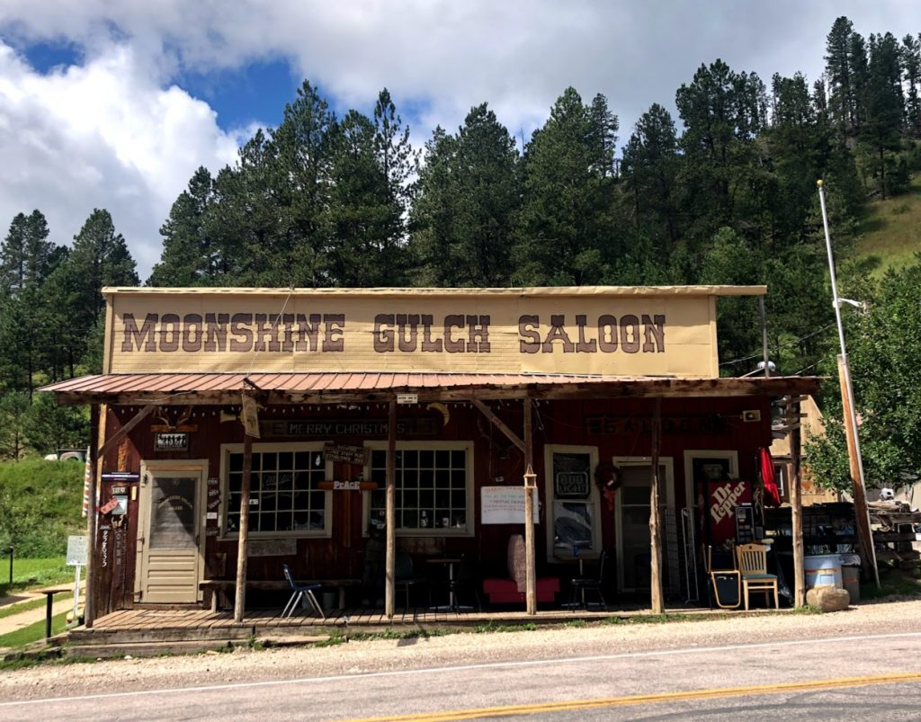 The Moonshine Gulch Saloon in Rochford, SD